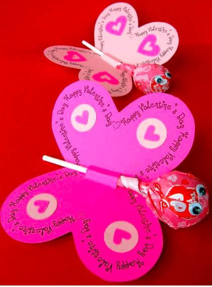 Lovely lollies - Valentine crafts for kids
