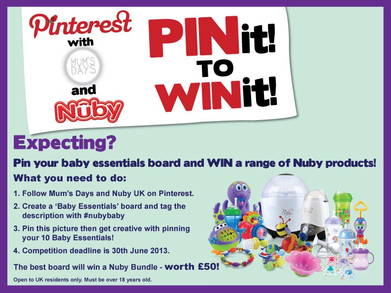 Baby essentials - Pin it to Win it with Nuby