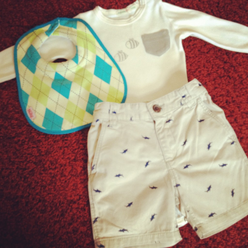 What should a baby boy wear to afternoon tea?!