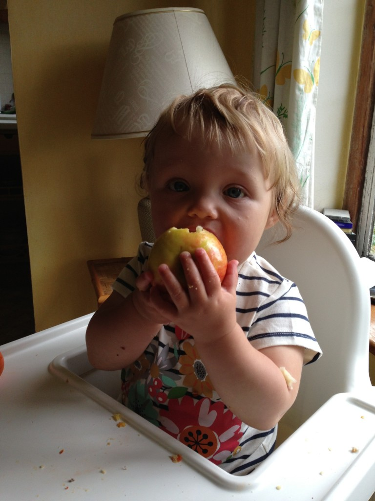 Baby Led Weaning - apple