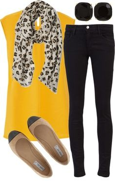 accessories and mustard - spring outfits #fashion #spring2014