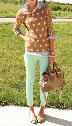 crop skinnies - spring outfits #fashion #spring2014
