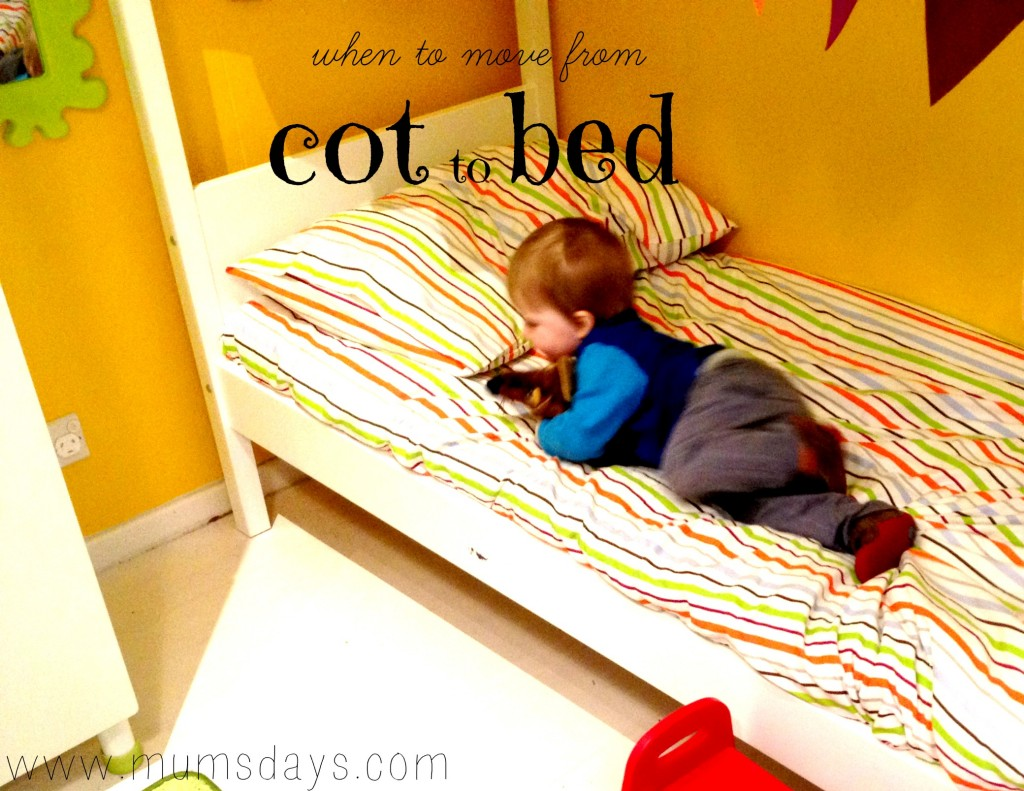 when to move from cot to bed http://www.mumsdays.com/when-to-move-from-cot-to-bed/ #kids #bed #cot