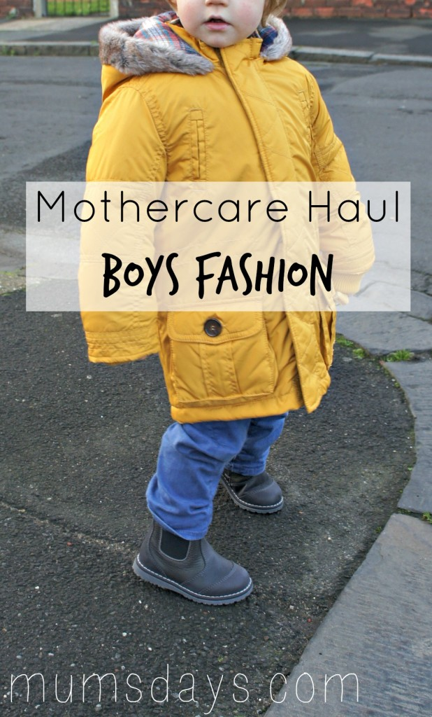 Mothercare Haul - Boys fashion including pieces from the award-winning Baby K Autumn/Winter 2014 collection http://www.mumsdays.com/mothercare-haul-nov-14/