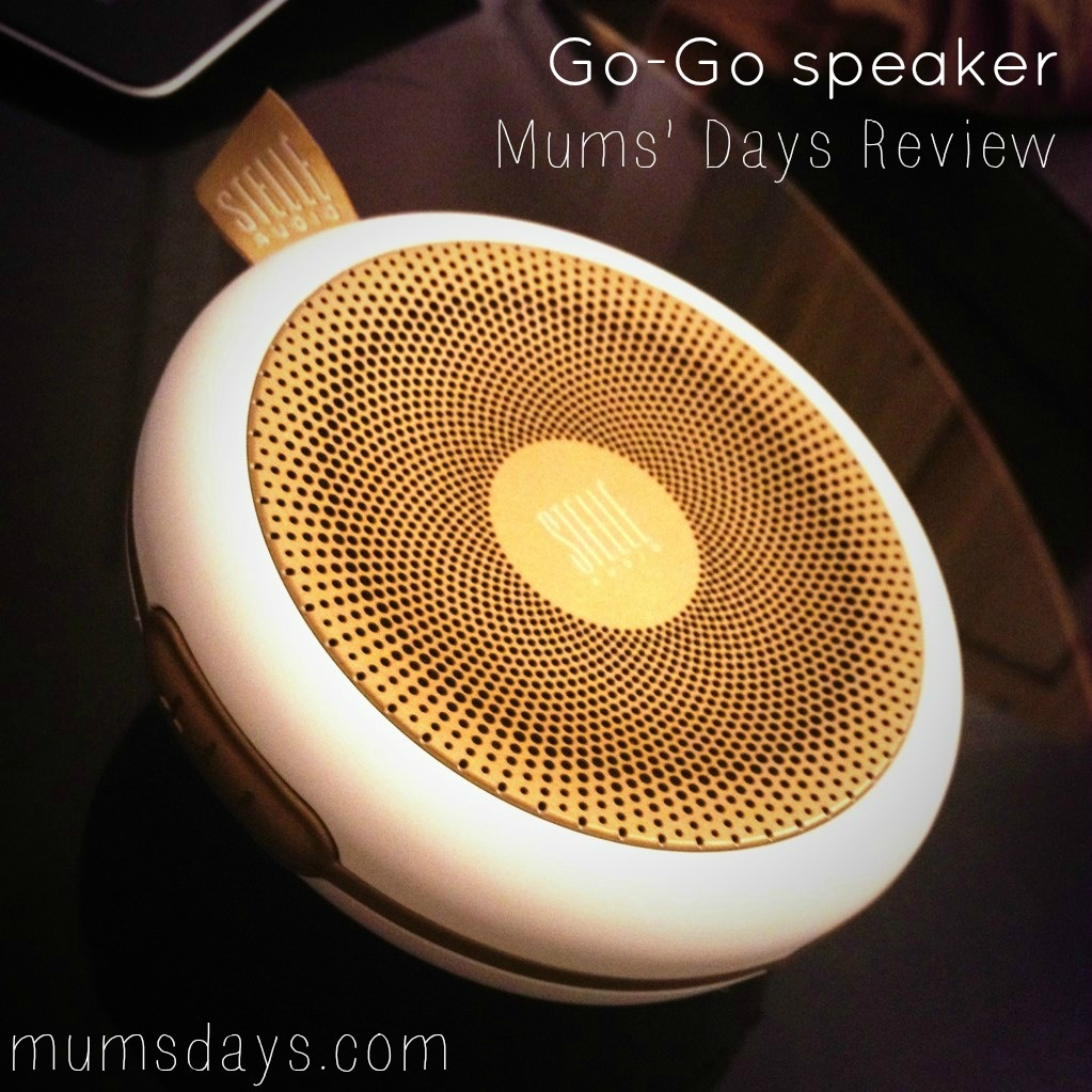 Stelle Audio Go-Go speaker - Best speakers for Mums on the Go-Go! Recommended Christmas present for New Mums and Mums-to-be. Click here for Full review and fabulous photos of the Go-Go speaker in action with a 2 year old. http://www.mumsdays.com/best-speakers-ever-go-go/