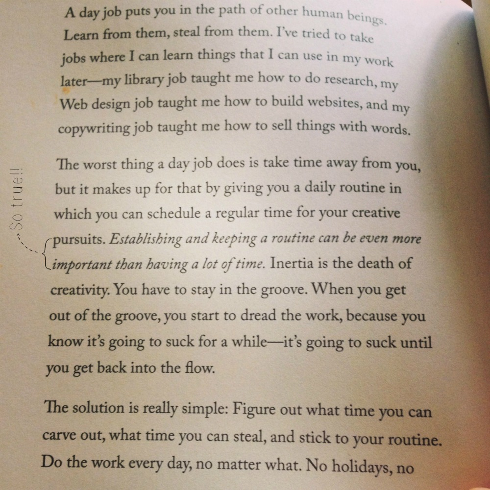 Blogging tips: Click here for the 10 lessons and blogging tips I learned from blogging every day in 2014: http://www.mumsdays.com/blogging-tips-10-lessons/ (excerpt from Steal Like an Artist)