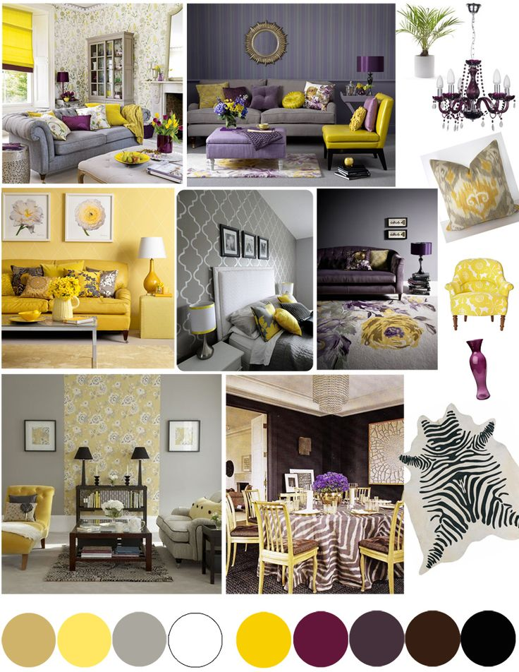 Home Office Ideas Mood board - yellow and grey colour palette, desk, art work, rug, statement armchair and multifunctional room as it doubles as a guest bedroom! http://www.mumsdays.com/home-office-ideas/