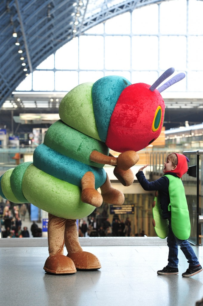 Giant Wiggle and The Very Hungry Caterpillar - world book day give away with Action for Children and Seven Stories