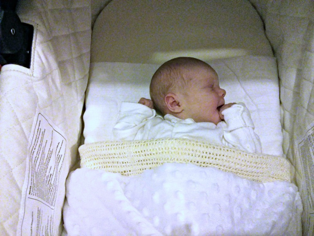 Rosalie 6 hours old - Jess' surprise Christmas baby born beneath the Christmas Tree!! http://www.mumsdays.com/christmas-baby/