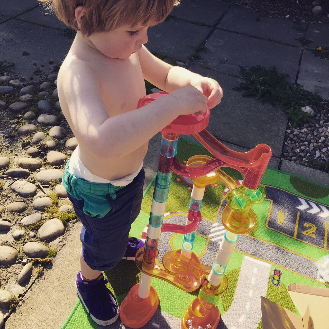 sunshine and Family Fitness - The List 33 - marble run