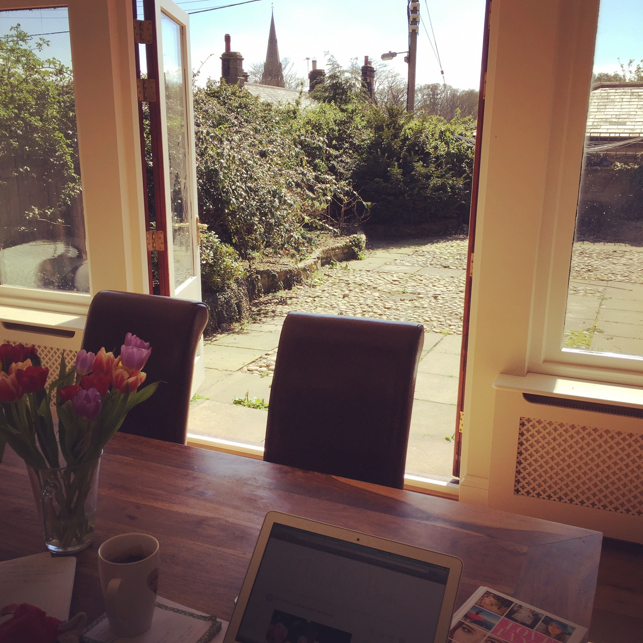 sunshine and Family Fitness - The List 33 - my sunny office!