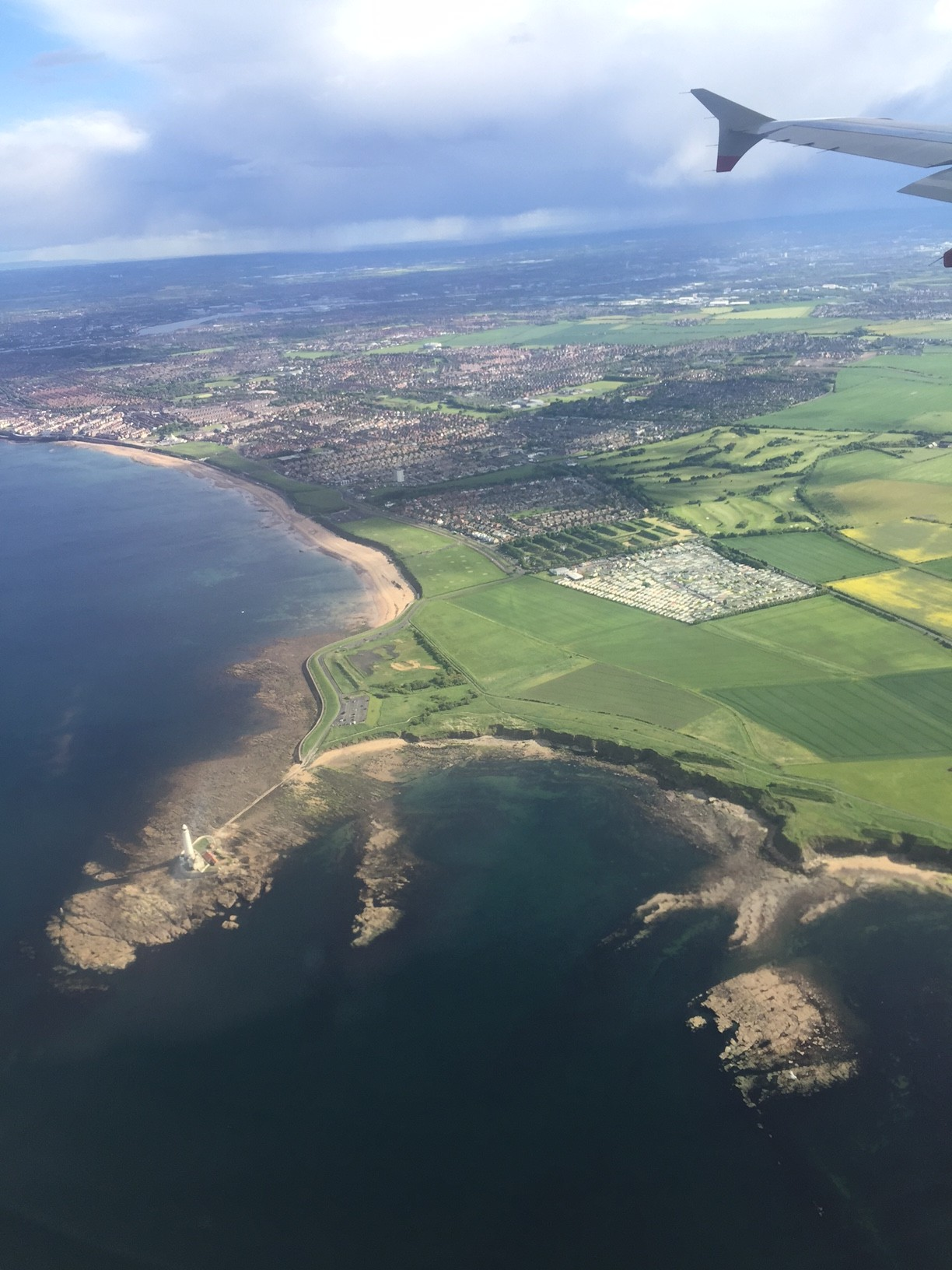 The List 39 - flying over St Mary's Lighthouse, Whitley Bay