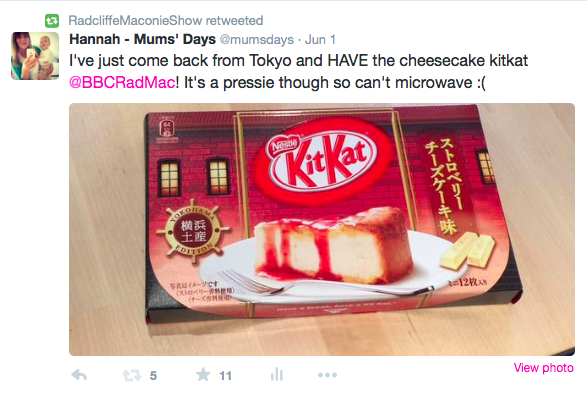 The List 39 - cheese cake kitkat from Japan