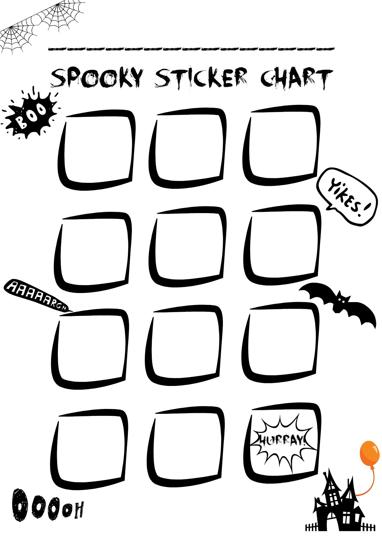 photo about Halloween Stickers Printable referred to as Sticker Chart - absolutely free Halloween printable Mums Times