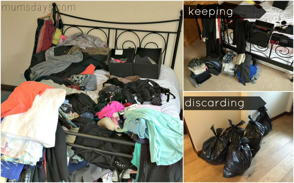 Marie Kondo's method for how to declutter and tidy your house. How to clear out your clothes!