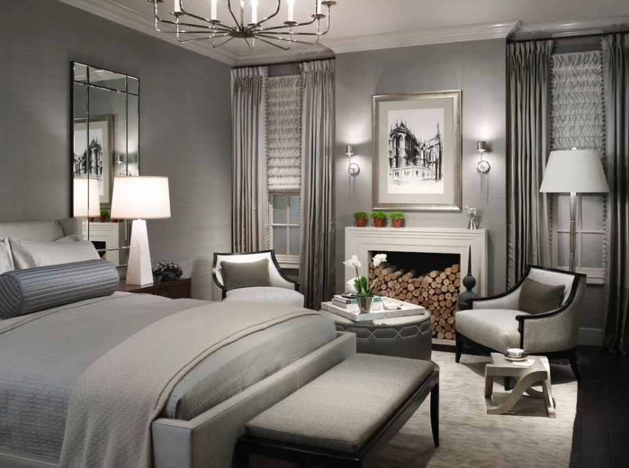Bedroom ideas - luxury grey bedroom