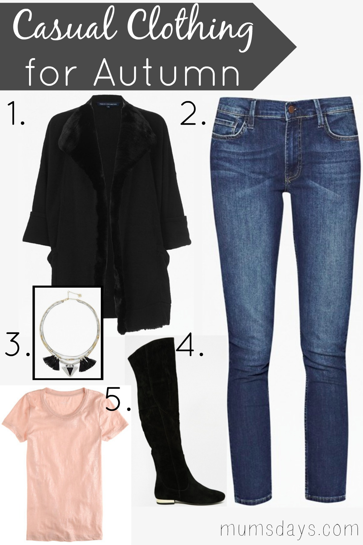 Casual Clothing For Autumn Mums Days