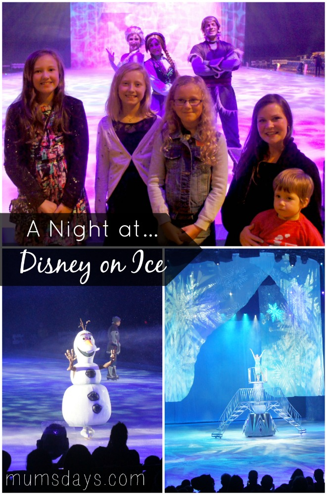 Disney on Ice - our night out and a meet and greet with the Frozen stars