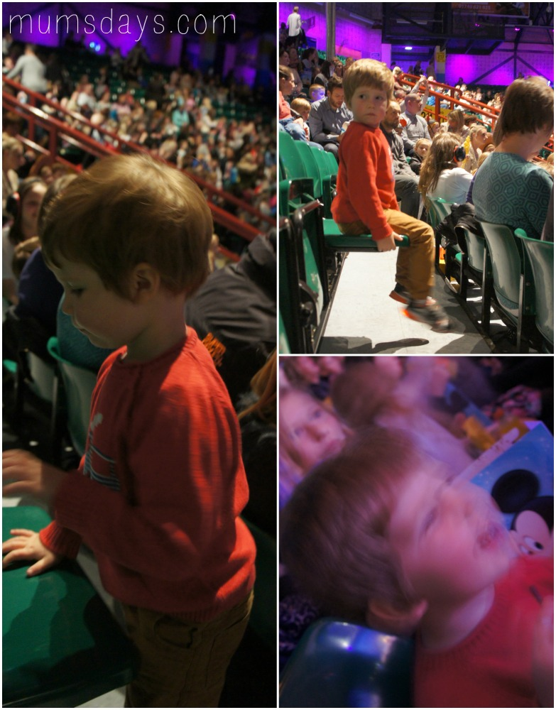 Disney on Ice - getting ready for the show to start