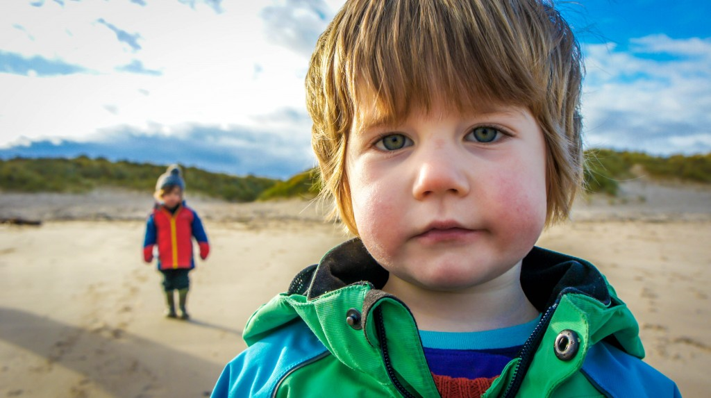 Top 5 parenthood highlights - on the beach at Druridge Bay