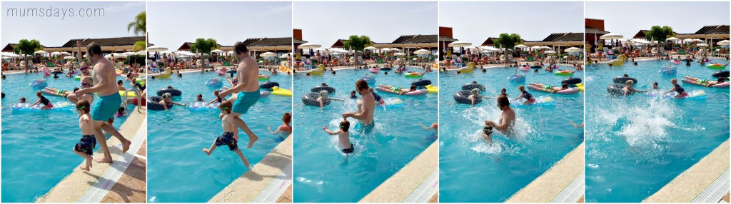 Top 5 parenthood highlights - learning to swim at the Holiday Village in Tenerife
