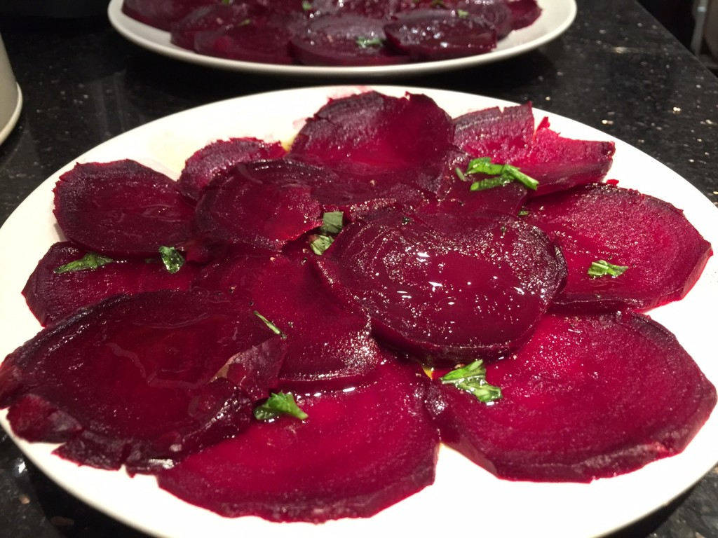 My list 2 - beetroot carpaccio